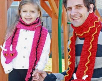 Crochet Dragon Scarf Pattern (PDF FILE)