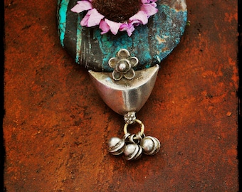 Antique Rajasthan Pendant with Bells