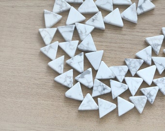 10 pcs of Howlite Triangle Bead