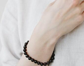 Cherry amber bracelet / Dark amber bracelet