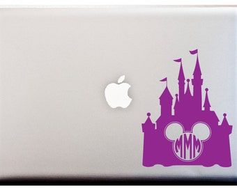 Disney Castle Mickey Monogram Circle Monogram Disney Queen Crown Decal Castle