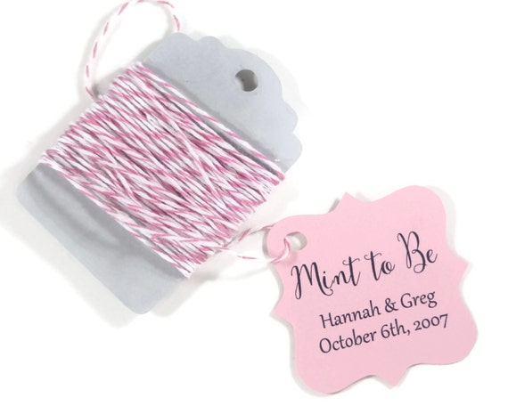 Minted Wedding Gift Tags : Wedding Favor Tags set of 20Personalized Gift TagsLight Pink ...