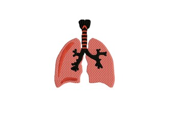 Lungs Embroidery Design