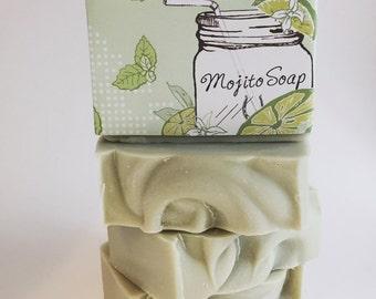Jody's Naturals Mojito Soap, Vegan, Cold Process Soap, Hand crafted, Victoria BC, Vancouver Island