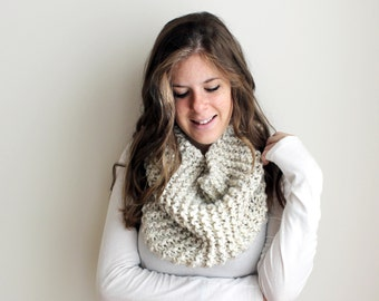 50% OFF Knit Scarf Cowl Knitted Infinity Wheat - Sotterley Cowl