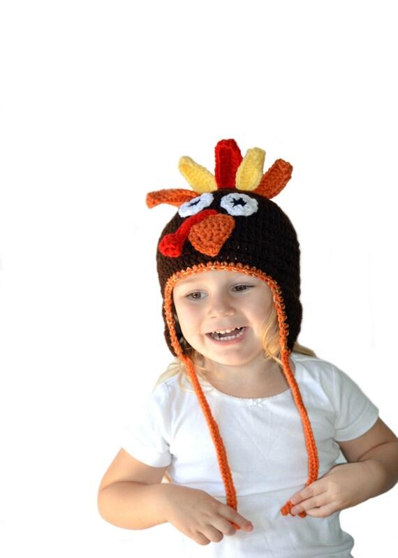 Toddler Turkey Hat, Kids Thanksgiving Hat, Infant Turkey Hat, Thanksgiving Costume, Turkey Costume, Knit Turkey Hat, Newborn Photo Prop