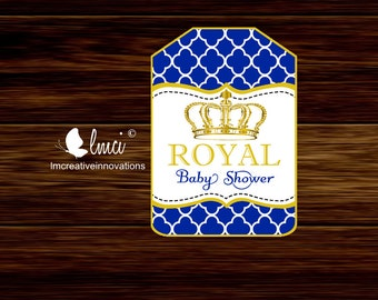 Printable Royal Baby Shower Gift Tags, Instant Download - Digital File