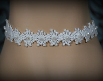 Vintage Dainty Pearl Sunbeam Wedding Choker