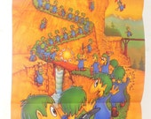 1992 LEMMINGS SNES Nintendo Video Game Poster