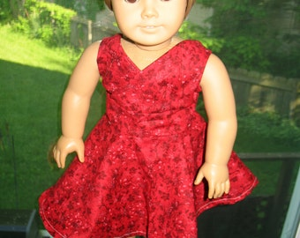 "Red Dress & Sandals for 18"" Dolls"