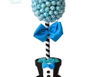 Lollipop Groom Topiary, Candy Groom Topiary, Groom Candy Centerpiece, Wedding Candy Buffet Decor, Bridal Shower Decoration, Engagement Party