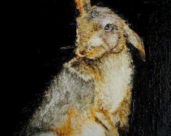 Woodland Hare Study Digital Print.