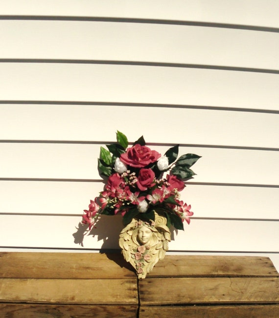 Wall sconce arrangement angel wall sconce container floral for Wall decor arrangements