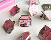 Strawberry Milk! Enamel Pin