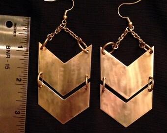 Chunky chevron earrings