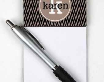 Personalized Office Gifts Sticky Note Holder Office Accessories Monogrammed Personalized Desk Co-Worker Gift Chevron Sticky Note Holder