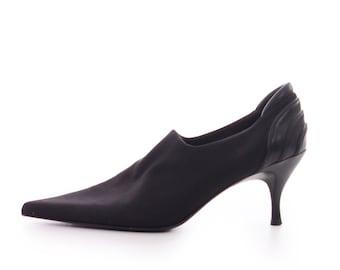 Pointed Toe Shoes Donald J. Pliner Black Ankle Boots Pointed Pumps Avant Garde Minimalist 90s Shoes Women's Size US 7 / UK 5 / Eur 37