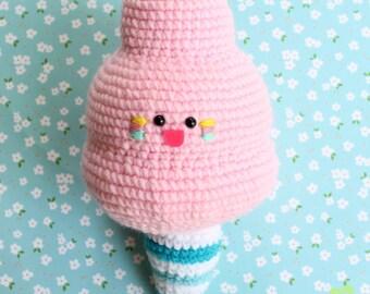 Cotton Candy Plush Amigurumi Food!! Crochet Gift