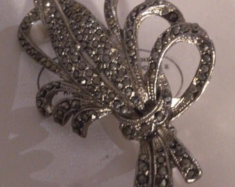 Vintage marcasite brooch