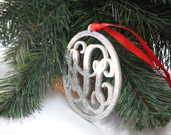 SHIPS FAST, Monogram Family Ornament, Personalized Monogram Christmas Ornaments, Personalized Christmas Ornaments, Acrylic, Handmade - ORN