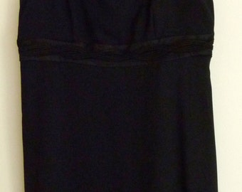 DONNA RICCO Black Tank Dress, Size 8