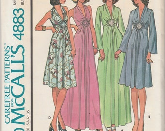 """McCall's 4883  Misses' Dress For Stretch Knits Only Size 12 Bust 34"""""""