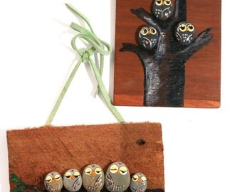 Rock Owl Art