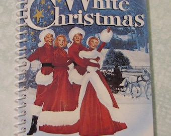 WHITE CHRISTMAS (1954) Journal - VHS Sleeve Repurposed To Unique Journal, Notebook, Sketch Book, Diary - Not A Licensed Product