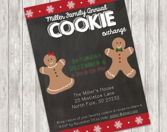 Cookie Exchange Party Christmas Invitation