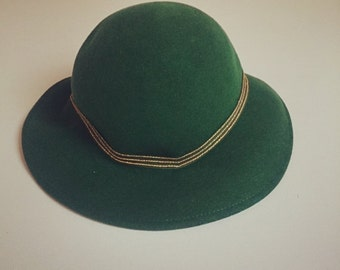 Edward Mann Green Cloche Hat 1960s