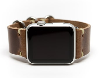 Apple Watch Band Horween Leather Watch Strap by E3 Supply Co. - Natural Chromexcel