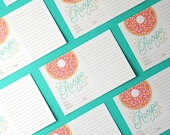 Sprinkle Donut 4x6 Recipe Cards - Set of 15 - 14pt Cardstock