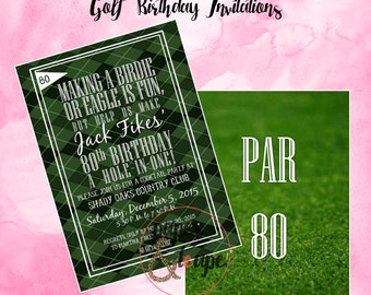Golf Birthday Invitations