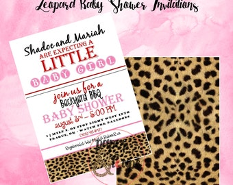 Baby Girl Baby Shower - Leopard and Hot Pink