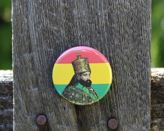 Haile Selassie I - Pinback or Magnet Button