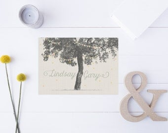 Rustic Wedding Save the Dates - Tree Save the Dates - Forest or Backyard Wedding - Postcard Save the Dates - Printable or Printed