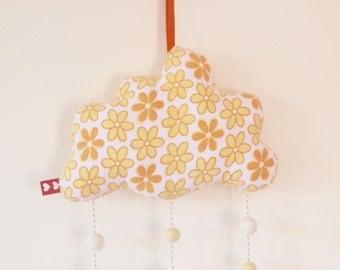 Mellow Yellow Hanging Cloud Mobile