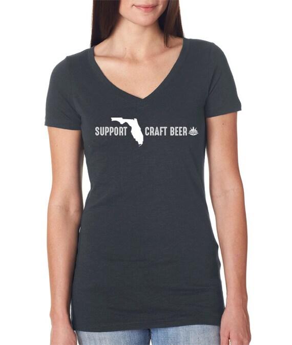 Craft Beer Florida- FL Brewer's Guild- Support Florida Craft Beer Women's V-Neck
