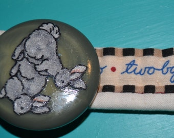 Cute Two by Two Bunny Button Bracelet.