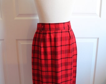 Vintage Red Plaid Jones New York Skirt