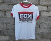 Vintage T-shirt White Sox Chicago 1980s sz fits Small Distressed