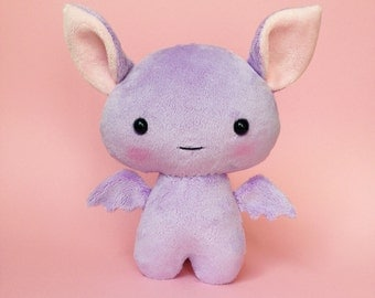 Bat plush toy - Cute stuffed bat - Purple bat  - Bat softie - Kawaii bat - Bat plushie
