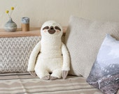 Hot water bottle cover, Sloth (white),  Faulpelz, Rustic, Wellness, woodland animals, Faulpelz, home, decoration, Plüschtier
