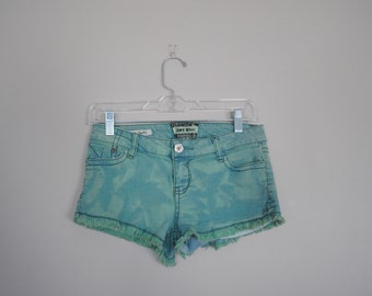 Teal Cutoff Denim / Jean Short Shorts - Size 3