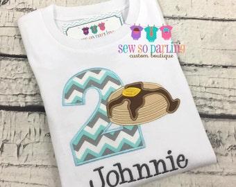 Boy Pancake Birthday Shirt - Pancake Birthday Outfit - 1st birthday shirt boy - Pancake birthday shirt - Pancake party shirt