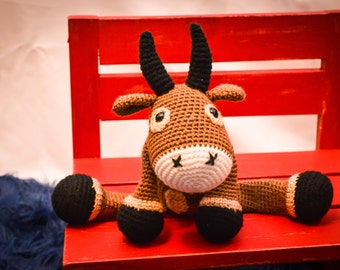 Bull Crocheted Stuffed Animal/Toy (Made to Order)