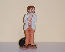 Doctor Figurine ~ Lefton China ~  Physician with Hypodermic Needle and Stethoscope ~ Red Headed Doc