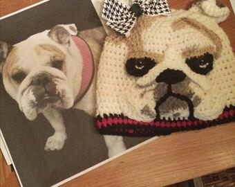 YOUR Bulldog Custom Crochet Beanie