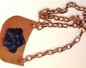 Mixed Media Copper Wood Pendant Necklace