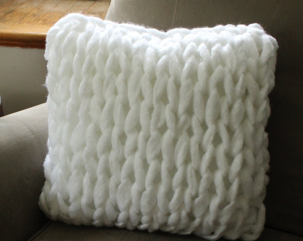 Knitting Pillows : Sale chunky knit pillow giant the velvet cove